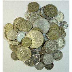 APPROX. 4 Oz. SILVER IN THIS LOT OF  FOREIGN COINS