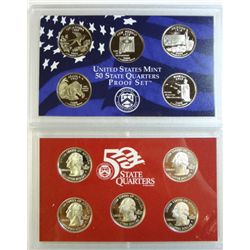 2008 STATE QUARTER PROOF SETS 1 CLAD & 1 SILVER