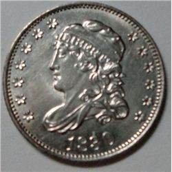 1830 half dime, Ch Bu 64, flashy, semi-PL surfaces, a beauty!
