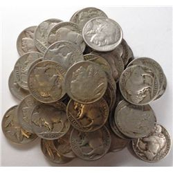 Roll (40)  1913 T2 Buffalo nickels: 11 solid full horns. the rest are