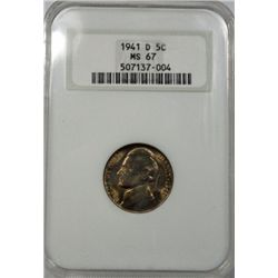 1941D Jefferson nickel  NGC67