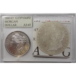 1880O Morgan $  in an Accugrade holder