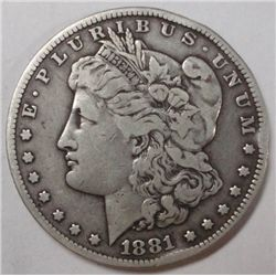 1881CC   Morgan $   F/VF