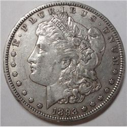 1893CC   Morgan $  XF/AU all original undipped PQ
