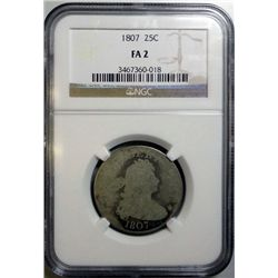 1807 BUST QUARTER NGC FAIR 2 RARE!