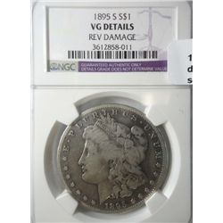 1895S Morgan $   NGC53 says rim damage??for a VG looks good