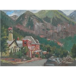 Michele Byrne, Towering Over Telluride, Oil on Linen Panel