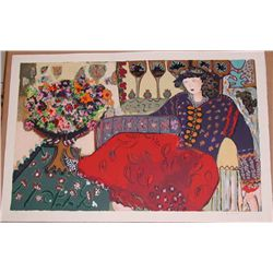 Bracha Guy, Leisurely, Signed Serigraph