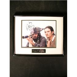 Pirates Of The Caribbean/Johnny Depp Signed Photo