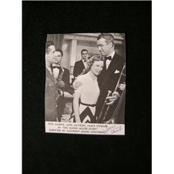 Jimmy Stewart The Glenn Miller Story Signed Clipping