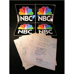 Original NBC Vehicle Stickers Lot
