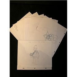 The Simpsons Production Sketches Lot