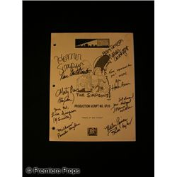 The Simpsons Signed Script