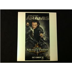 Three Musketeers Photo Signed by Luke Evans