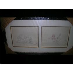 Donald Duck Framed Sketches