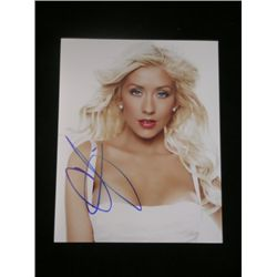 Christina Aguilera 8x10 Signed Color Photo