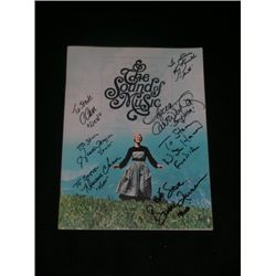 Sound of Music Von Trapp Children Signed Program