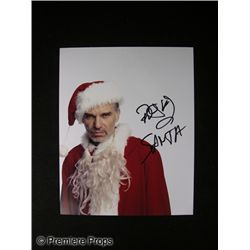 Billy Bob Thornton Signed Bad Santa Photo