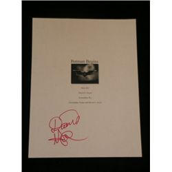 Batman Begins Signed Script cover