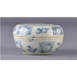 Chinese Qing Period Blue & White Cosmetic Box