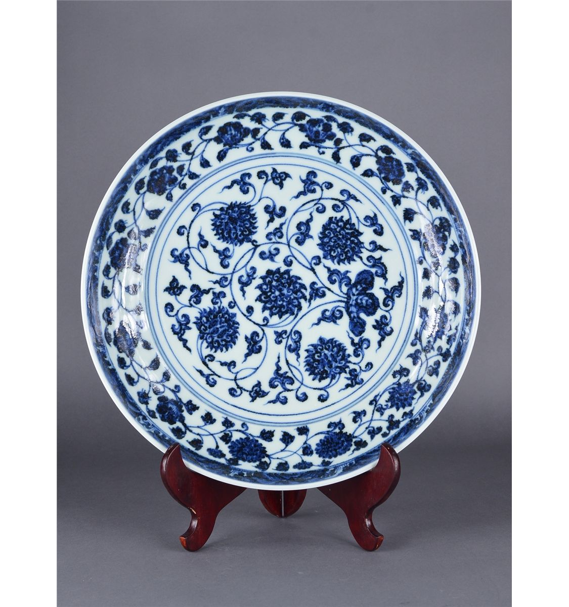 Chinese blue white porcelain charger ming xuande floridaeventfo Images