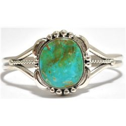 Navajo Royston Turquoise Sterling Silver Cuff Bracelet - Mary Ann Spencer