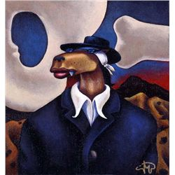 Markus Pierson 'COYOTE PORTRAIT OF O'KEEFE' Canvas