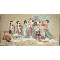 Large Original Japanese Traditional Watercolor Painting