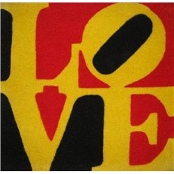 Robert Indiana LOVE Serigraph Decorative Carpet 1