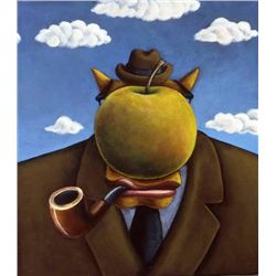 Markus Pierson 'COYOTE PORTRAIT OF MAGRITTE' Canvas