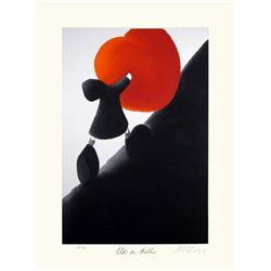 Mackenzie Thorpe 'UP A HILL' Lithograph