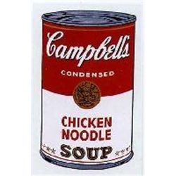 Warhol Print Campbell's Soup Can Chicken Noodle