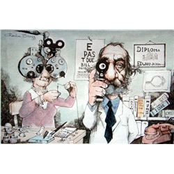 Charles Bragg Signed Medical Art Print Ophthalmologist