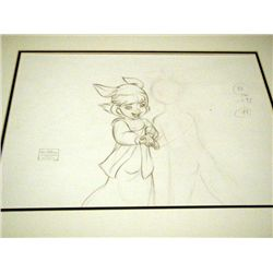 Disney Orig Animation Drawing Return to Never Land Jane
