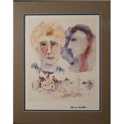 Henry Miller Writer Signed Art Print Lovers Dreaming