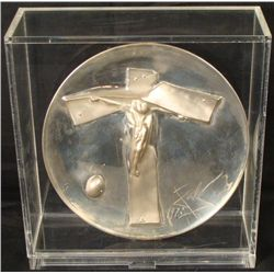 Dali Sterling Silver Plate Lincoln Mint Easter Christ