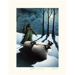 Mackenzie Thorpe 'WINTER MOONLIGHT' Lithograph