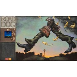 Markus Pierson 'ROAD DOG' Mixed Media Canvas & 'PETE'