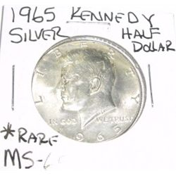 1965 Kennedy SILVER Half Dollar *VERY RARE MS-65 HIGH GRADE*!!