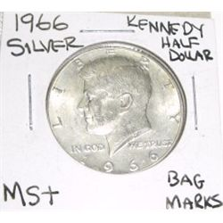 1966 Kennedy SILVER Half Dollar *RARE MS+ HIGH GRADE*!!