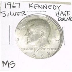 1967 Kennedy SILVER Half Dollar *RARE MS HIGH GRADE*!!