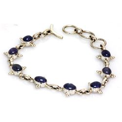 Natural 64.55 ctw Tanzanite .925 Sterling Bracelet