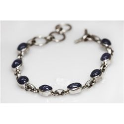 NATURAL 60.70 ctw. TANZANITE OVAL BRACELET .925 STERLI