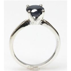 Natural 1.75ctw Sapphire .925 Sterling Silver Ring