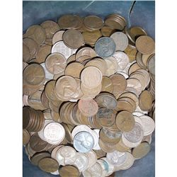 500 Lincoln Wheat Pennies, All G or Better