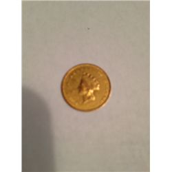 RARE1854 TYPE II $1 GOLD LIBERTY HEAD