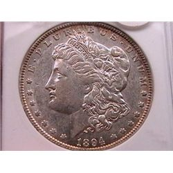 1894-O Morgan Dollar Anacs AU50