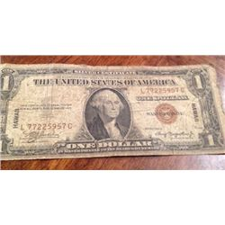 1934 Series WWII Hawaii $1 Silver Certificate Emergency Currency