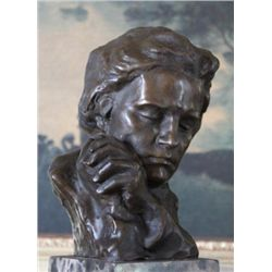 Magnificent Beethoven Bust Bronze Sculpture After Fix