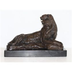 Grand Bronze Sculpture Lioness
